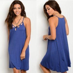 Dresses & Skirts - Indigo Cutout Dress